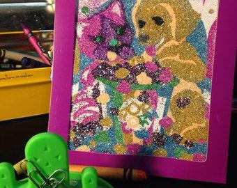 Lisa frank glitter art