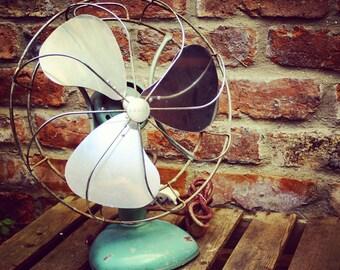 Vintage electric fan. Art Deco H. Frost & Co. fan. 1940s