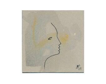 plain portrait art 10/10 cm figure