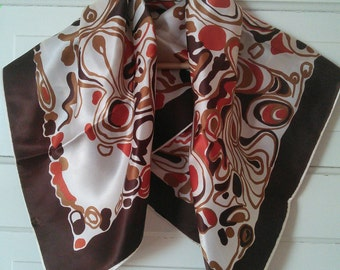 Abstract Earth Tones scarf