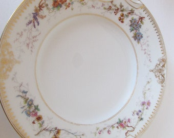 """GUTHERZ LIMOGES 11"""" Handled Cake Plate ca. 1884"""