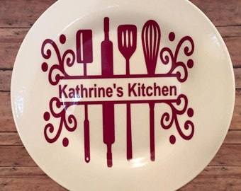 Personalized Plate Kitchen Deco new home gift gift for mom's kitchen the cook