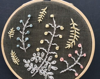 "4"" Hoop art ""Neutral Nature"""