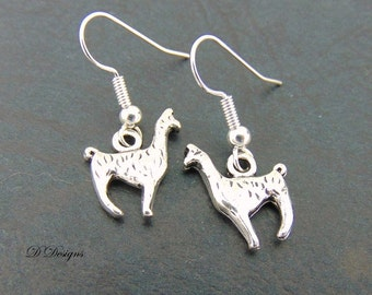 Llama Earrings, Llama Jewellery, Sterling Silver Earrings, Alpaca Charm Earrings, Novelty Earrings, Llama Gifts, Gifts for Her,