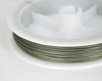 50 m silver jewelry wire ø 0.38 mm