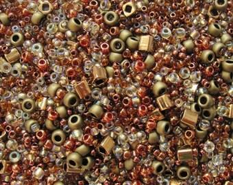 Toho seed bead mix OCHA bronze 10 g