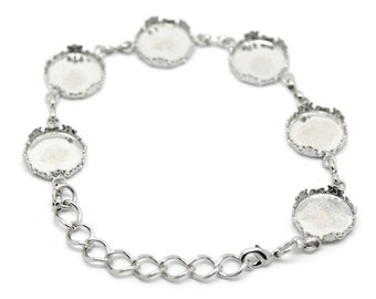 A bracelet blank with 14 mm Sockets - 18 cm