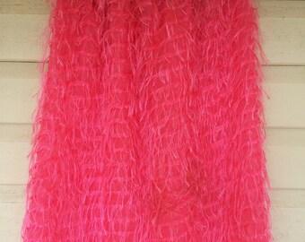 Shaggy Pink Skirt