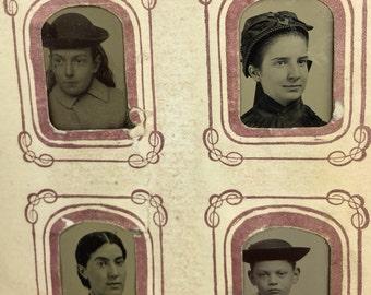Tiny Tin Type Photo Album