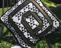 Geometric Cushion, black, white, gold, cushion, homeware, home, decor, textiles, interior, design