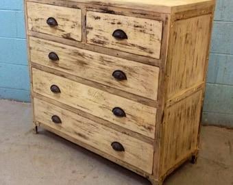 Industrial Distressed Painted Dresser