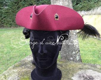 Tricorn hat 18th . Tricorne XVIIIè siècle