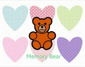 2 Baby Clothes Memory Bears - Reserved for Alicia
