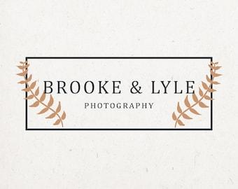 Photography Logo - elegant photography logo, photography business, premade logo, small business logo, custom photography logo