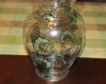 Handpainted Glass Vase Inspired by Moroccan Design