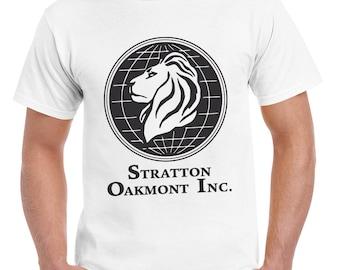 Stratton Oakmont T-Shirt Wolf of Wall Street Tshirt Jordan Belfort Ludes T Shirt Movie Cult Gift Martin Scorsese Him Her Logo Stock Market