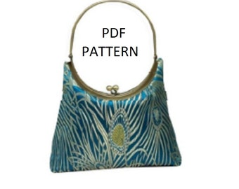 Pattern Round Purse Frames with Attached Handle PDF