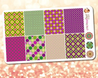 Moroccan / Mosaic / Tile Theme Full Box Planner Stickers