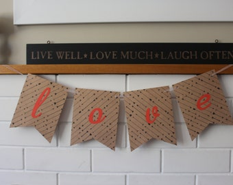Love bunting/banner