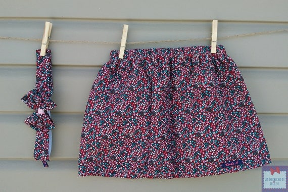 Skirt and headband - together - (baby and toddler) girl printed floral Liberty