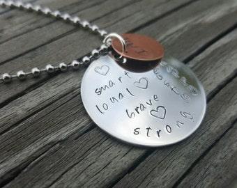 Hand Stamped Necklace - Inspiration - Inspirational - I Am