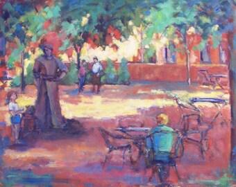 St. John's University, College Campus Painting, Impressionism