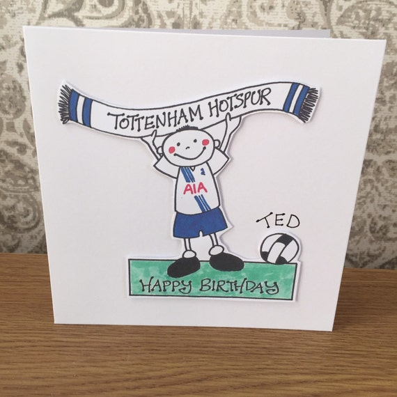 Tottenham hotspur football greeting card Football greeting – Tottenham Birthday Cards