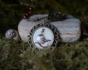 "Necklace ""Fairy and Bird"""