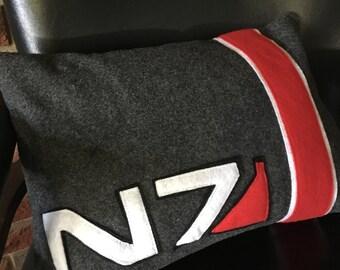 Mass Effect Inspired Felt Pillow