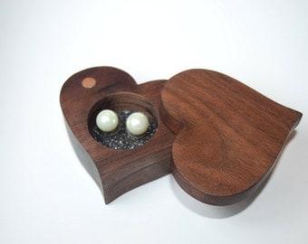 Jewelry Presentation box, Heart Shaped, Hand Made