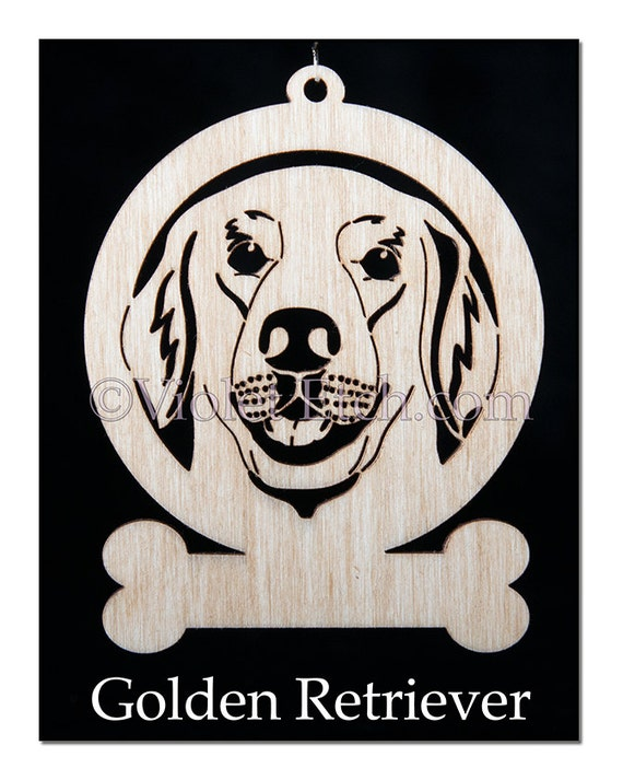 Golden Retriever Ornament-Golden Retriever Gift-Free Personalization