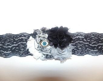 Neutral Eyeball Flower Headband