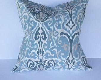 Throw pillow, accent pillow, throw pillow cover, couch pillow cover, decorative throw pillow cover, blue pillow cover, home decor