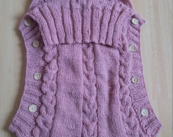 Baby Dusty Pink Baby Nest: dusty pink- baby girl- baby nest- baby carrier- knitted baby nest- baby shower gift-baby gift-new baby- girl gift
