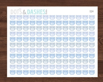 S24- Baby Boy Cloth Diaper Wash Day Reminder, baby boy diapers (143 MINI Matte Planner Stickers)