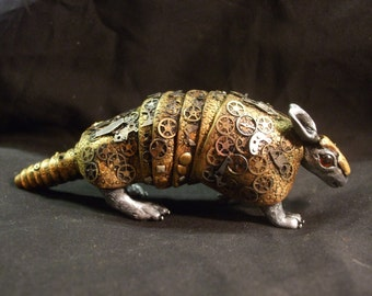 Steampunk Armadillo  - Hand Made One of a Kind