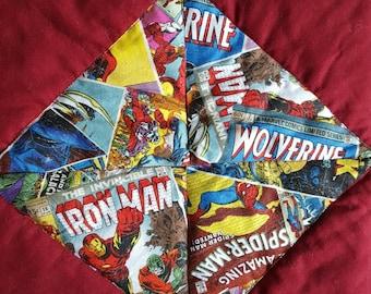 Marvel Comics Quilt, Super Heroes Quilt, Super Powers Quilt, Avengers Quilt, Comic Covers Blanket, Wolverine Quilt,Spiderman Quilt, Iron Man