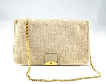 Vintage Christian Dior Beige Monogram Bag