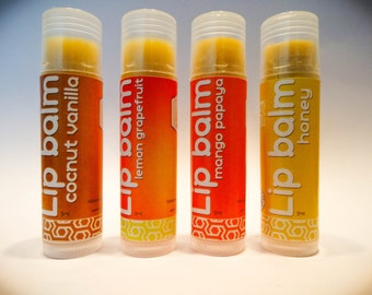 Lip Balm in four flavours