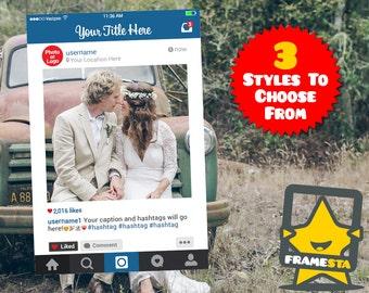 Custom Instagram Frame (Digital File Only) Photo Booth Prop, Instagram Frame Prop