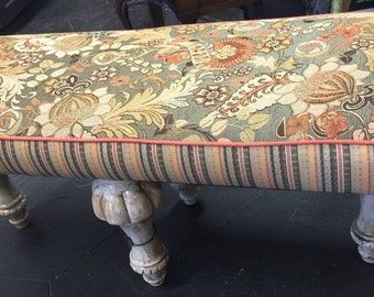 Funky upholstered Bench