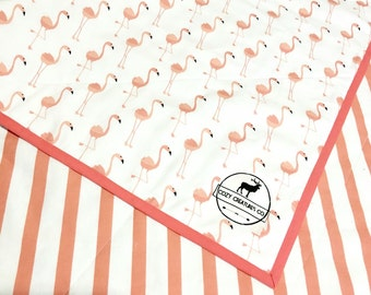 Pink Flamingo Baby Quilt