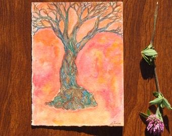 Tree of Life 1 Original Watercolor Painting