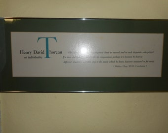 Henry David Thoreau: Framed Print on Individuality