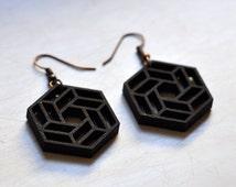 Hexagon Flower Earrings