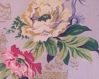 """Mid-century CURTAINS  Bar Cloth Flower Curtains 44""""x84"""" each"""