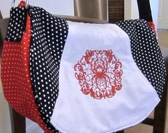 Gothic Purse Spider Purse Steampunk Purse, Punk bag, Psychedelic Handbag, Embroidered Purse Black, Red, White