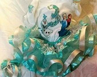 Frozen Ribbon Tutu outfit