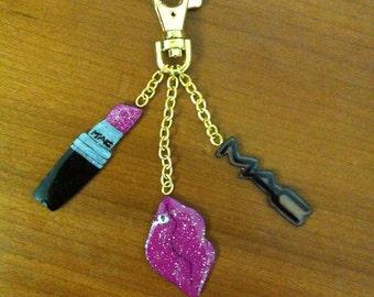 Resin charms keychain