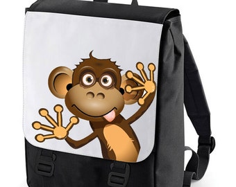 Monkey wave Backpack Bag perfect for school